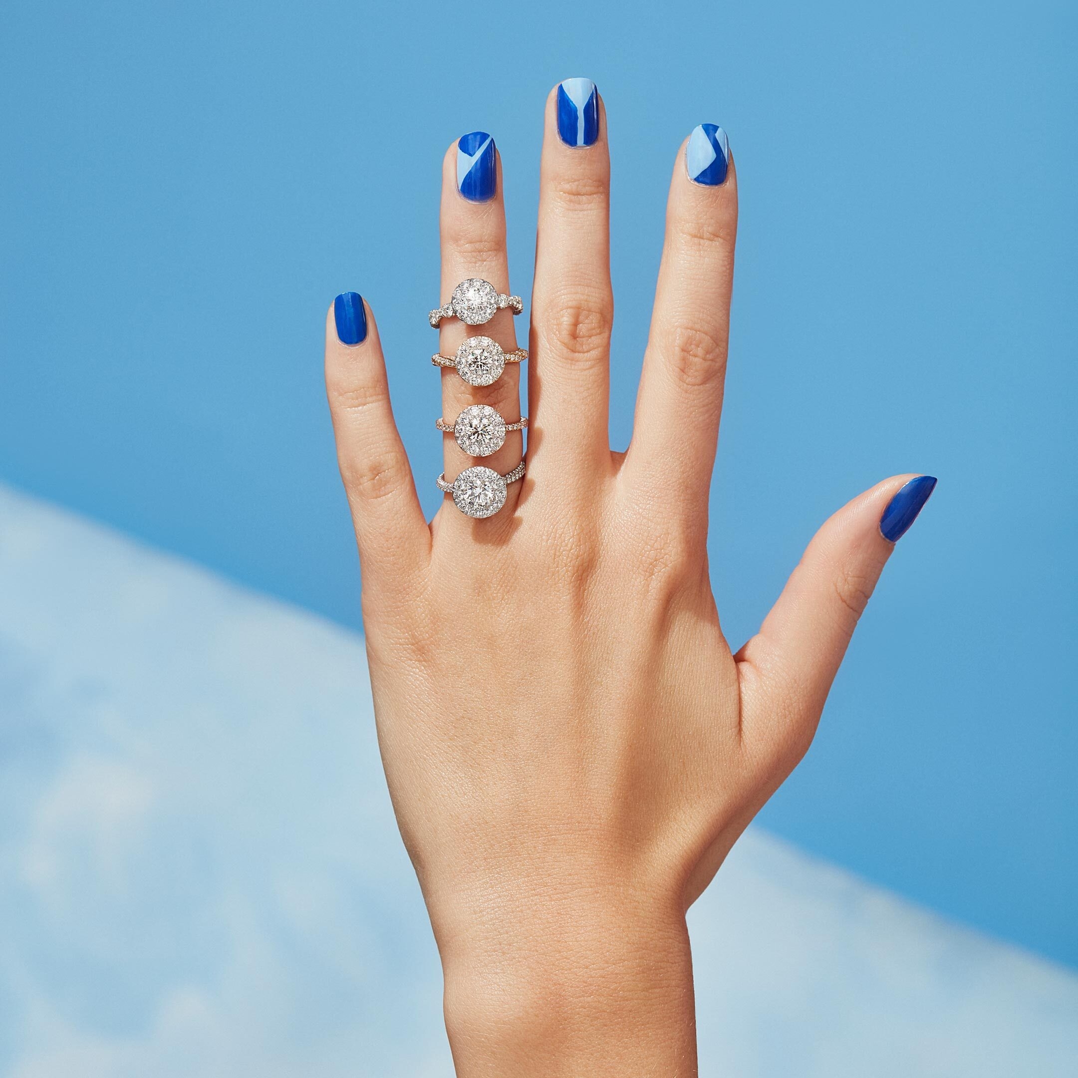 Seamless Solitaire™ Engagement Rings Hand Lifestyle by Oui by Jean Dousset