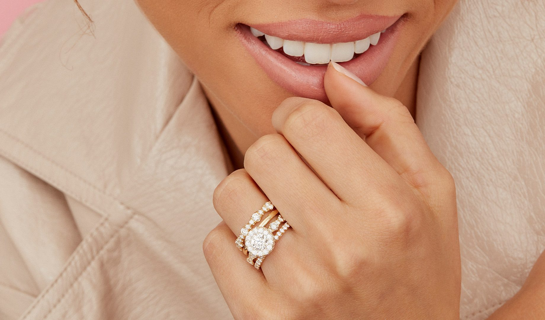 Seamless Halo® Engagement Rings by Oui by Jean Dousset