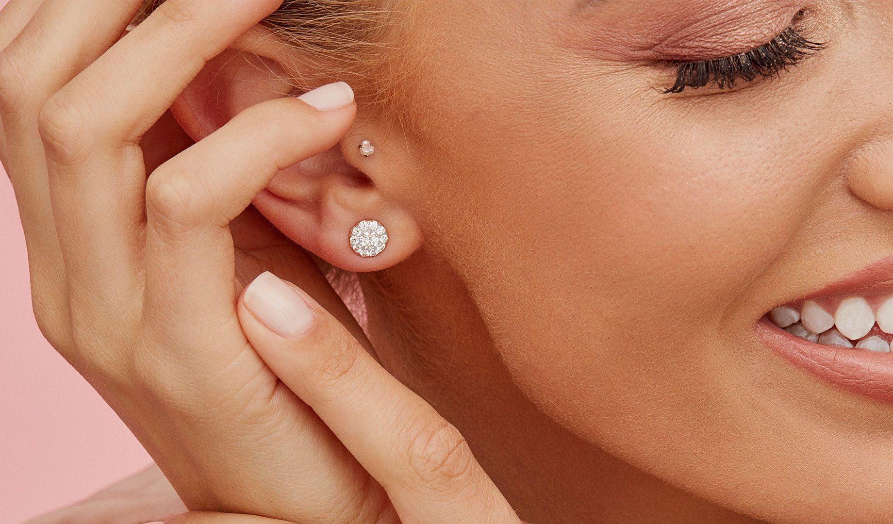 Diamond Earrings by Oui by Jean Dousset