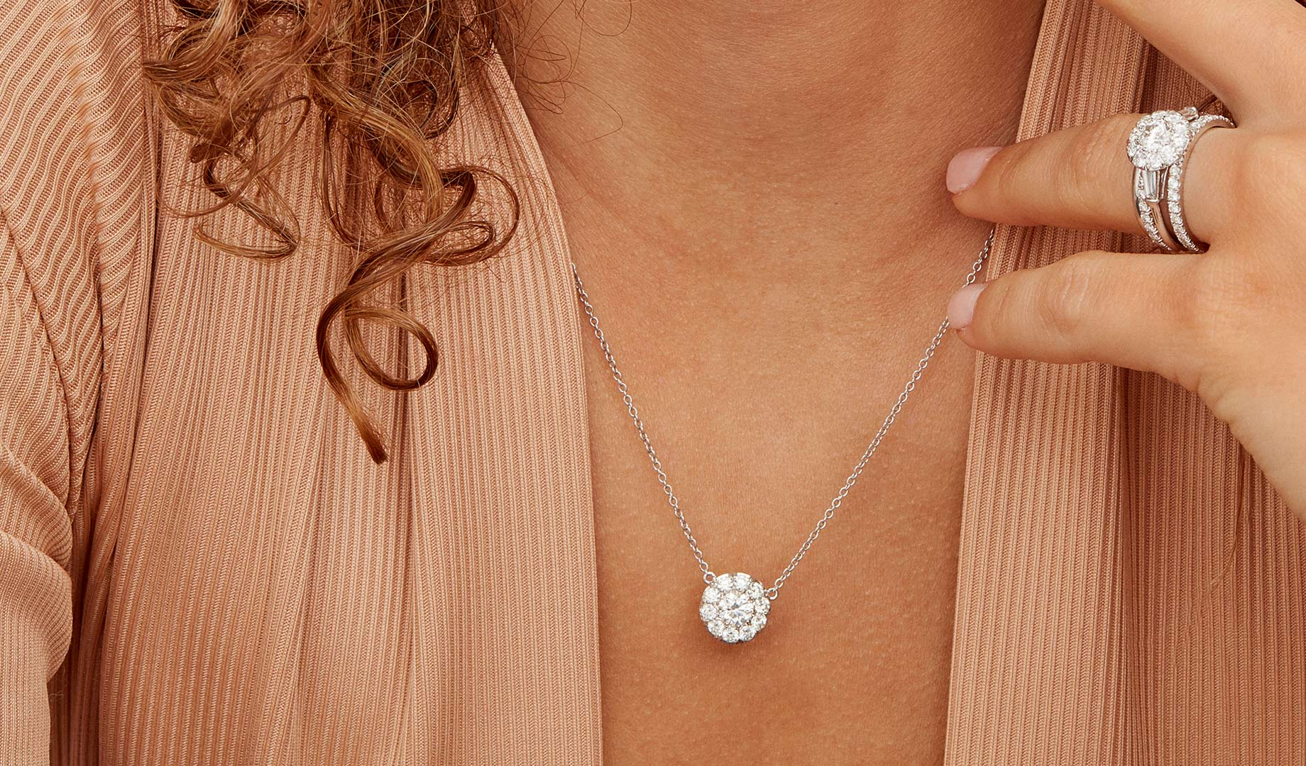 Diamond Pendants by Oui by Jean Dousset
