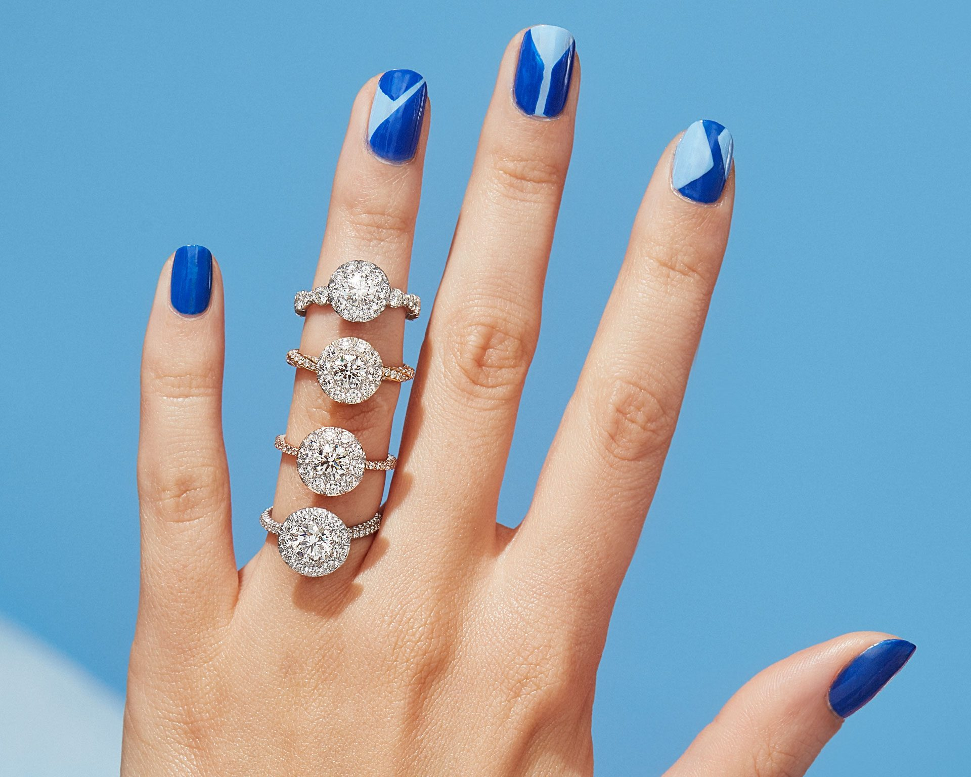 Seamless Solitaire™ Engagement Rings by Oui by Jean Dousset