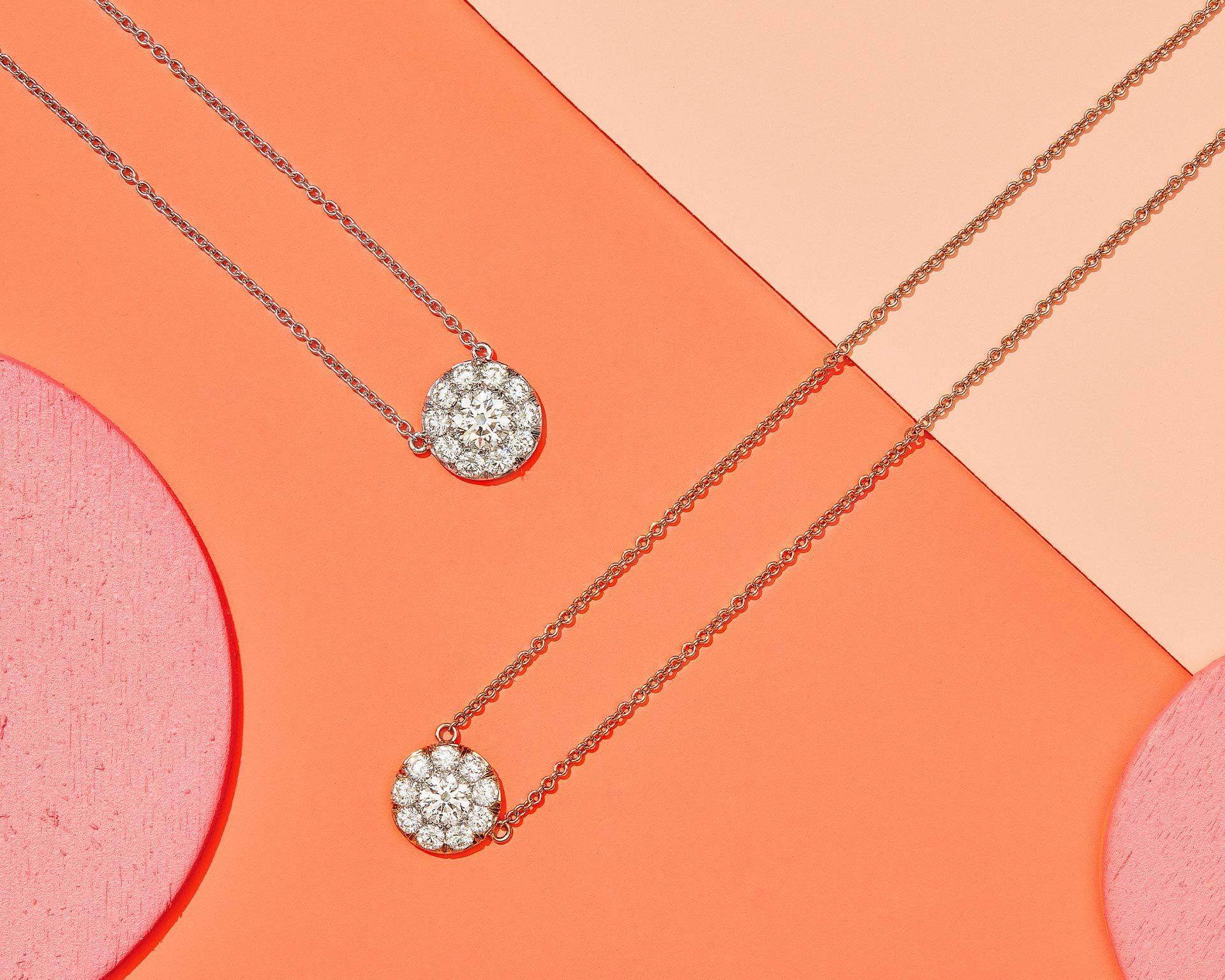 Diamond Pendants by Oui by Jean Dousset