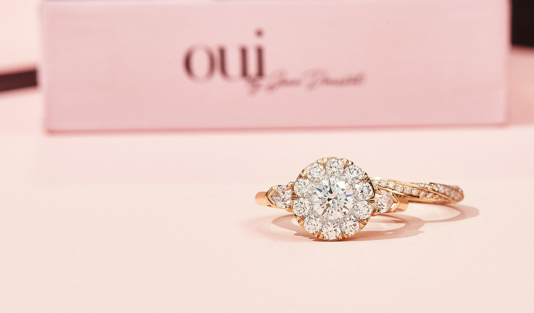 Three Stone Engagement Rings by Oui by Jean Dousset
