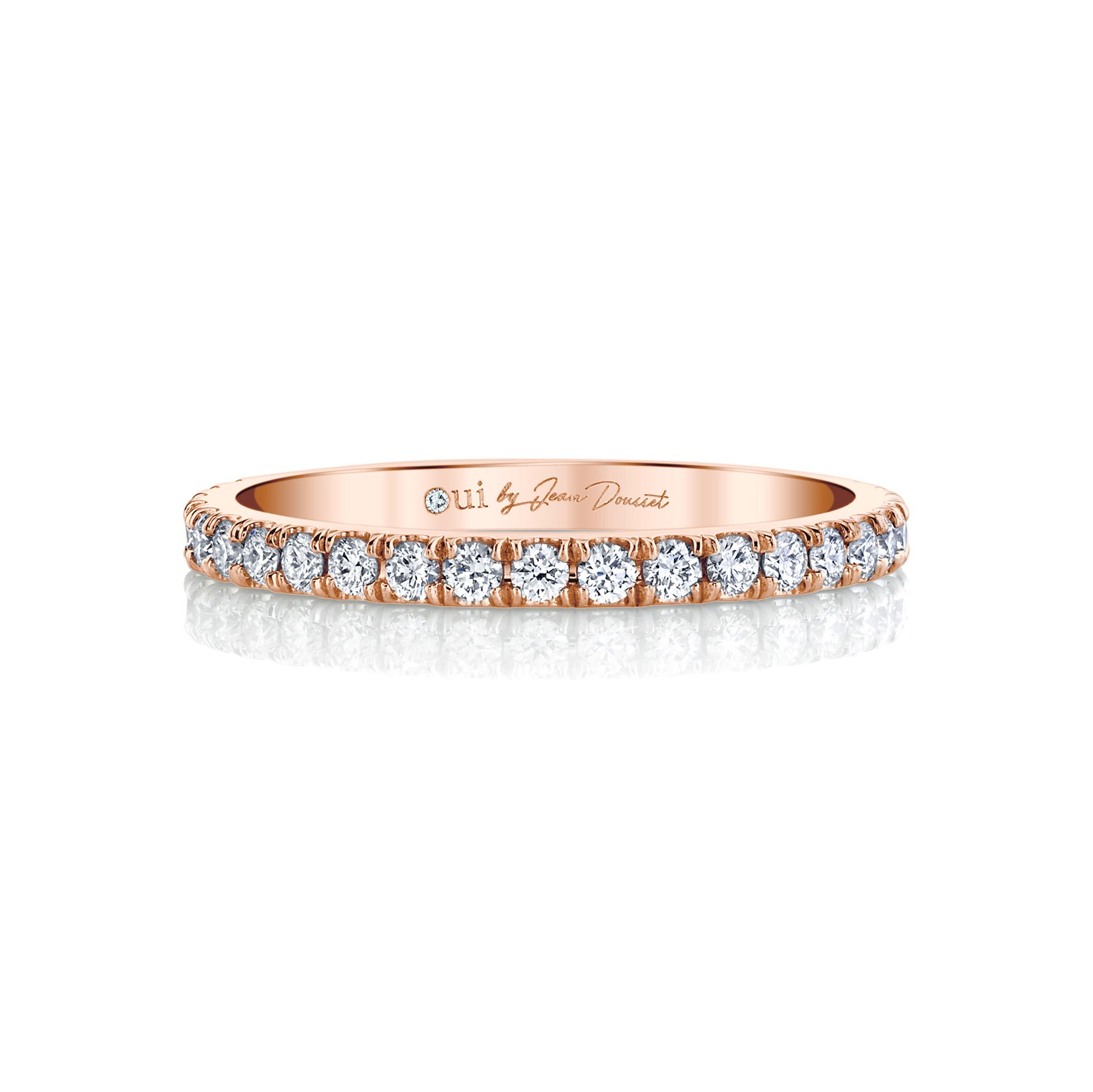 Eloise Women's Wedding Band 18k Rose Gold Front View by Oui by Jean Dousset