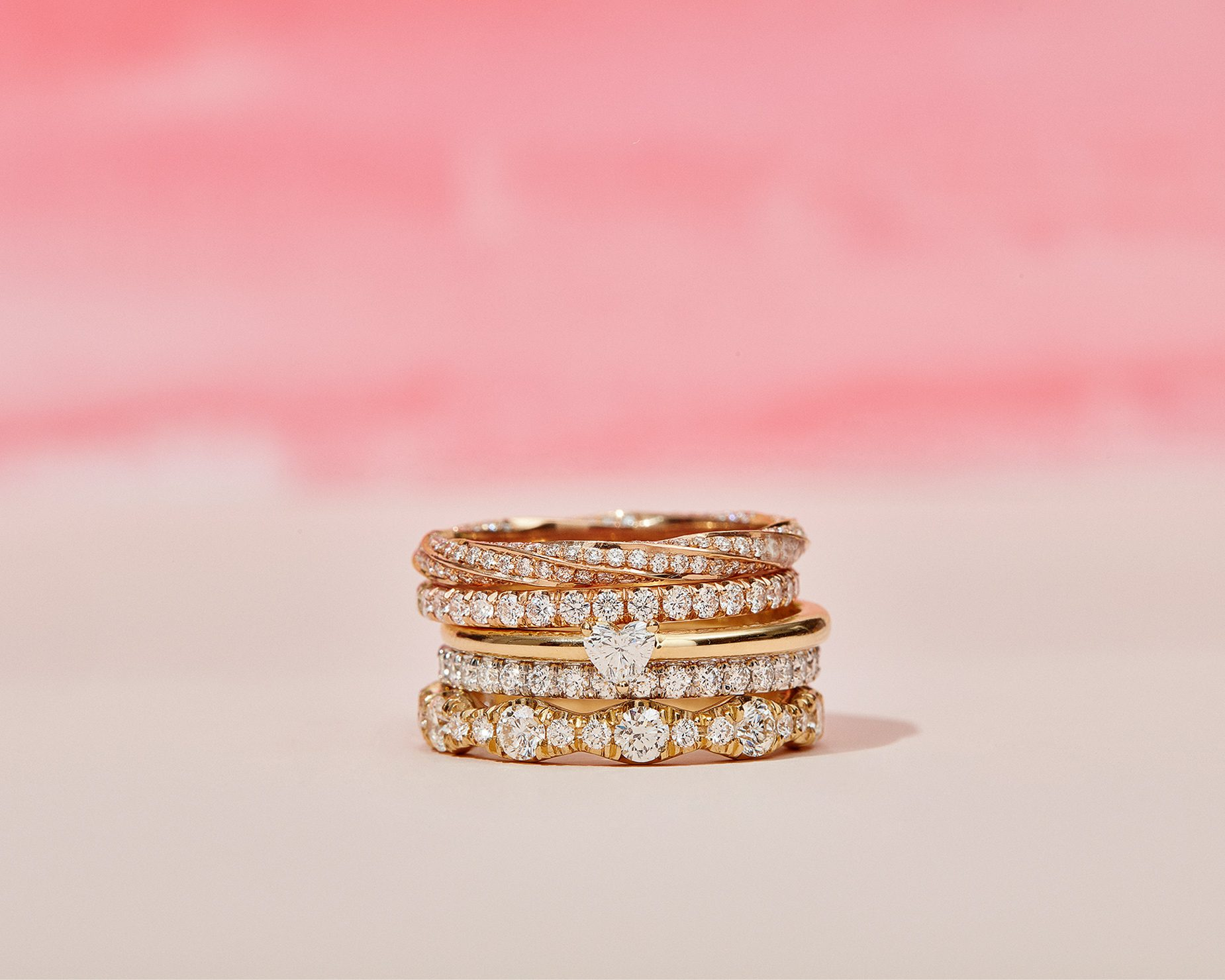 Rings Stack Lifestyle by Oui by Jean Dousset