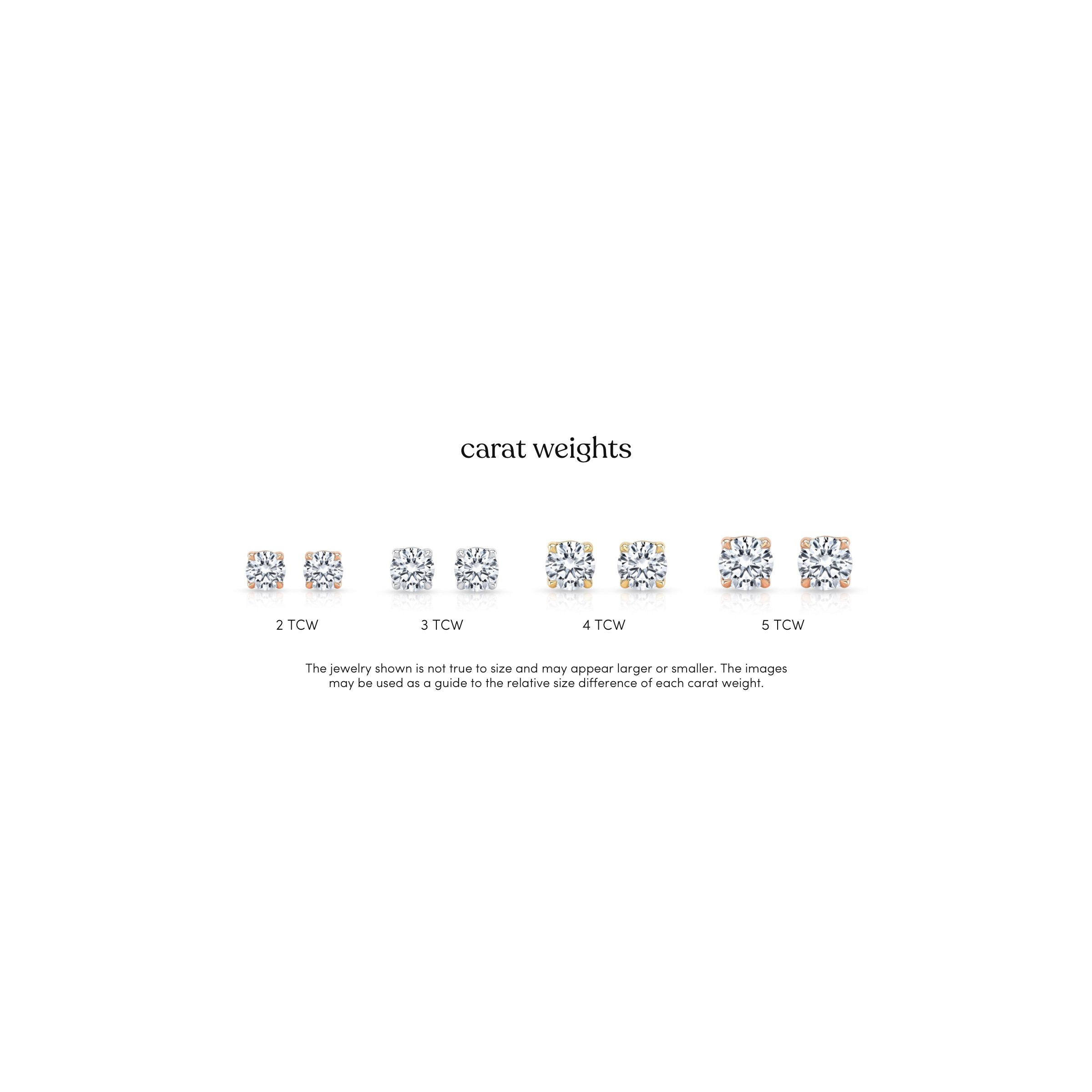 Lab Grown Diamond Earrings Total Carat Weight Comparison Infographic from Oui by Jean Dousset
