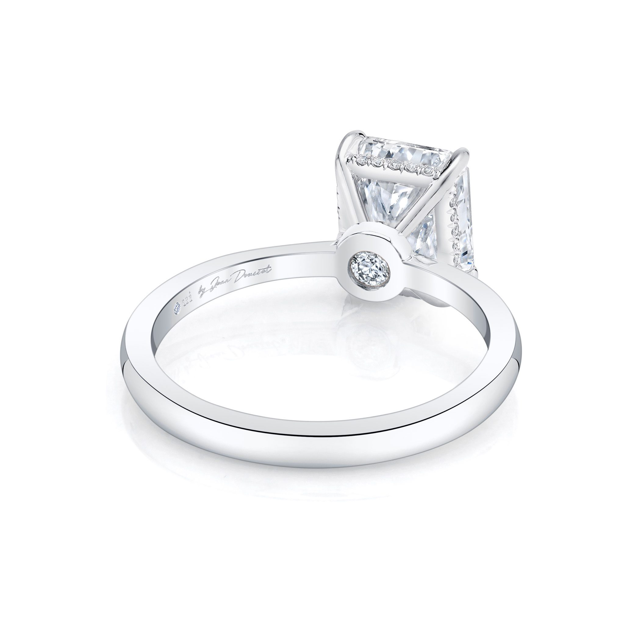 Colette Solitaire Radiant Cut Lab Grown Diamond Engagement Ring in 18k white gold band.