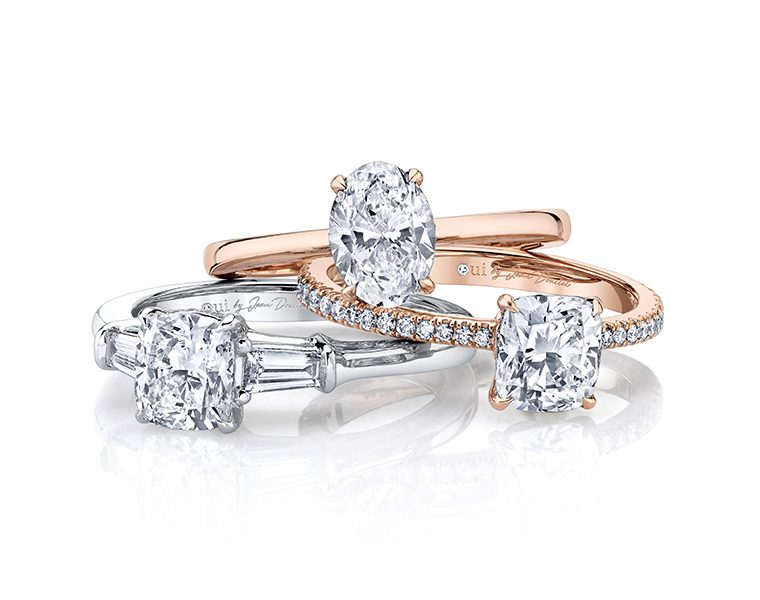Oui by Jean Dousset lab grown diamond engagement rings