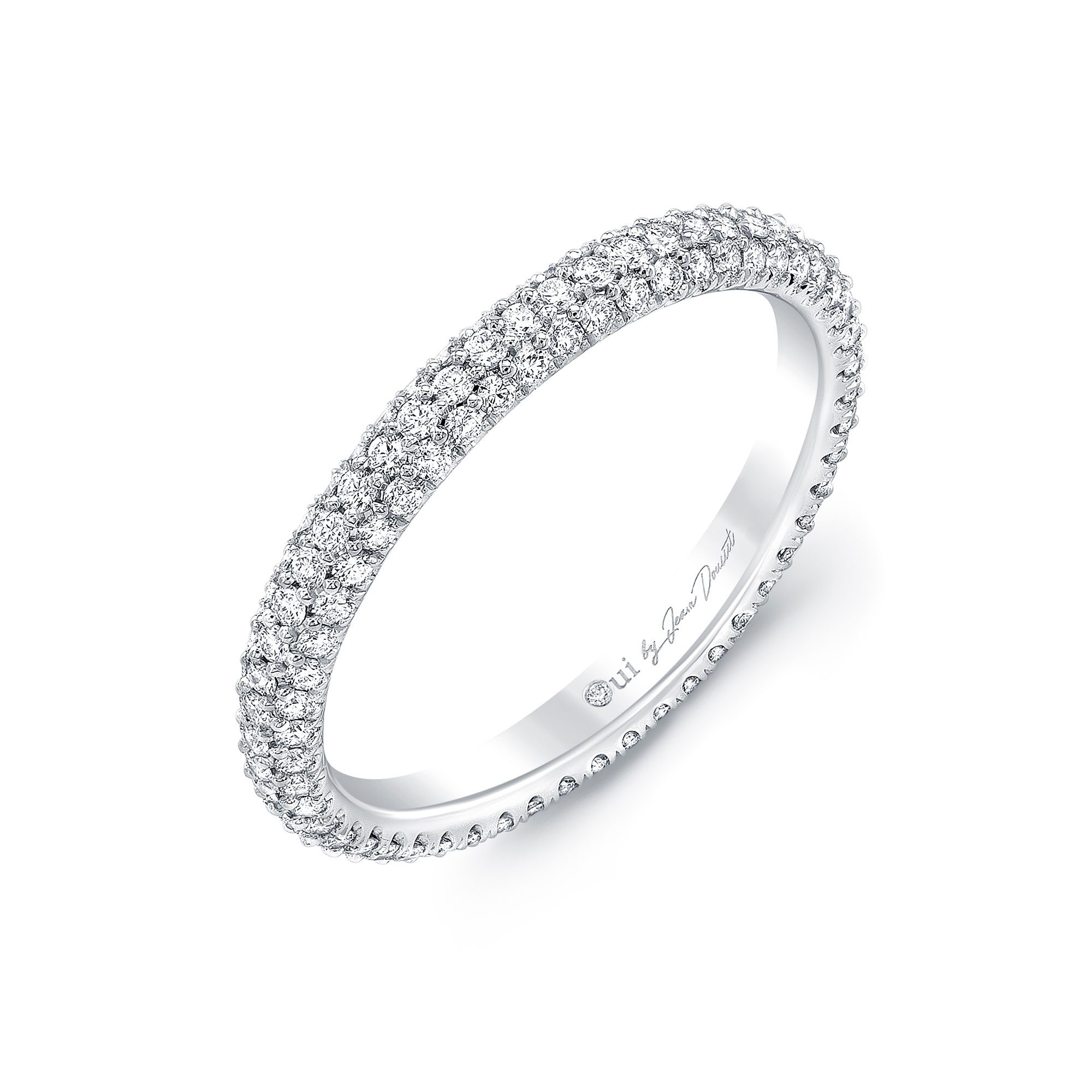 Jacqueline Eternity Band 18k White Gold Side View by Oui by Jean Dousset