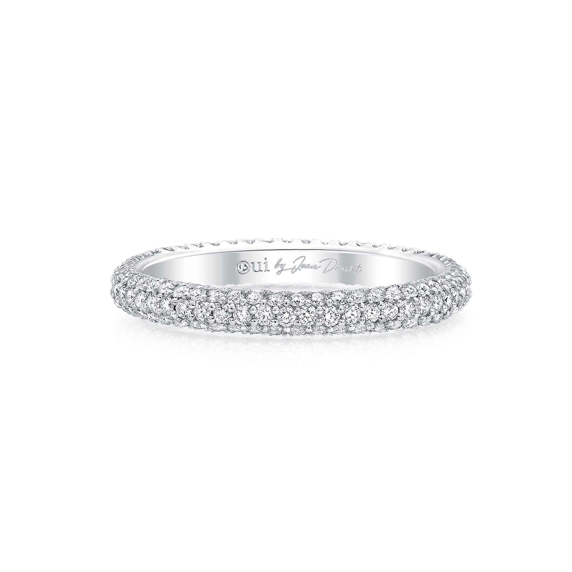 Jacqueline Eternity Band 18k White Gold Front View by Oui by Jean Dousset