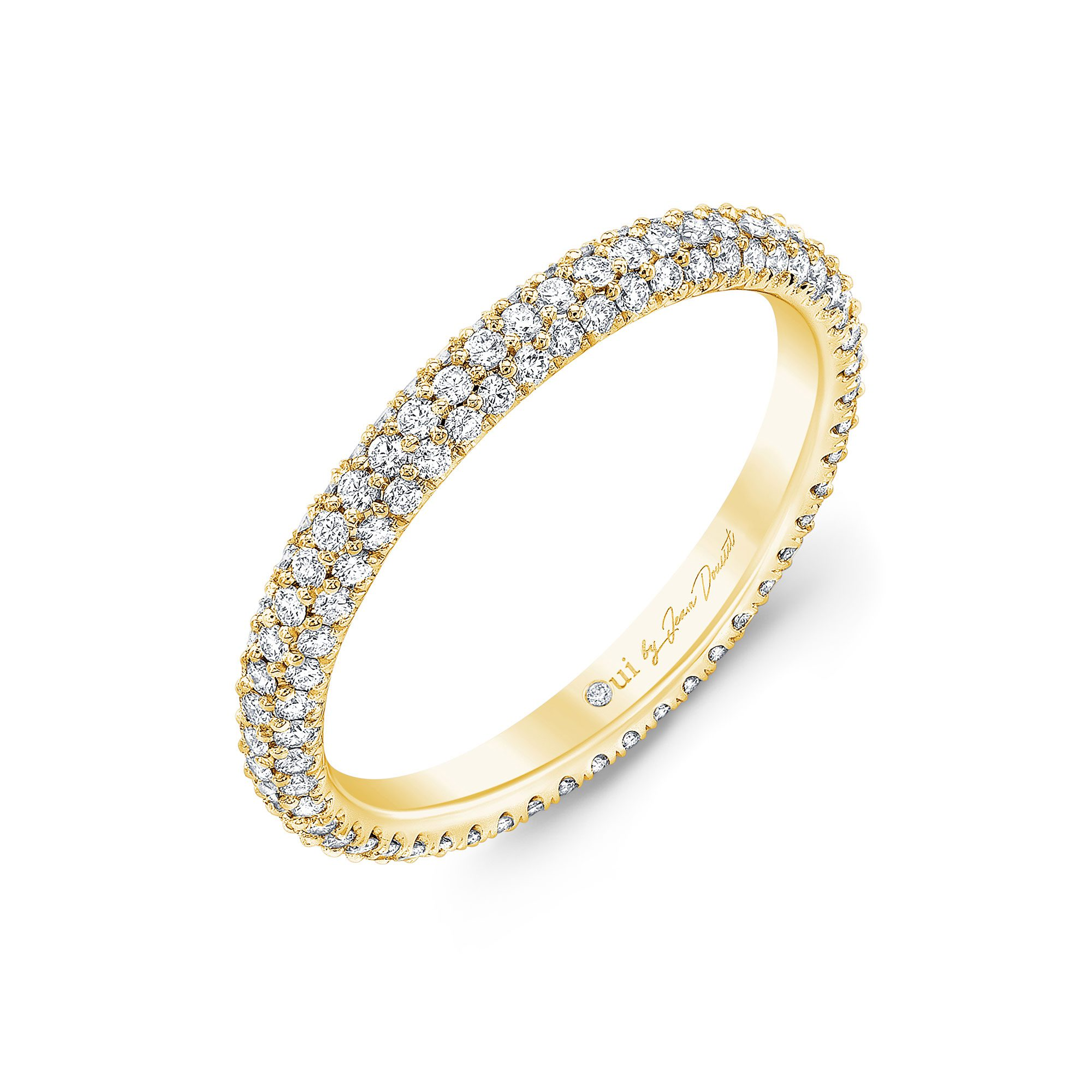 Jacqueline Eternity Band 18k Yellow Gold Side View by Oui by Jean Dousset