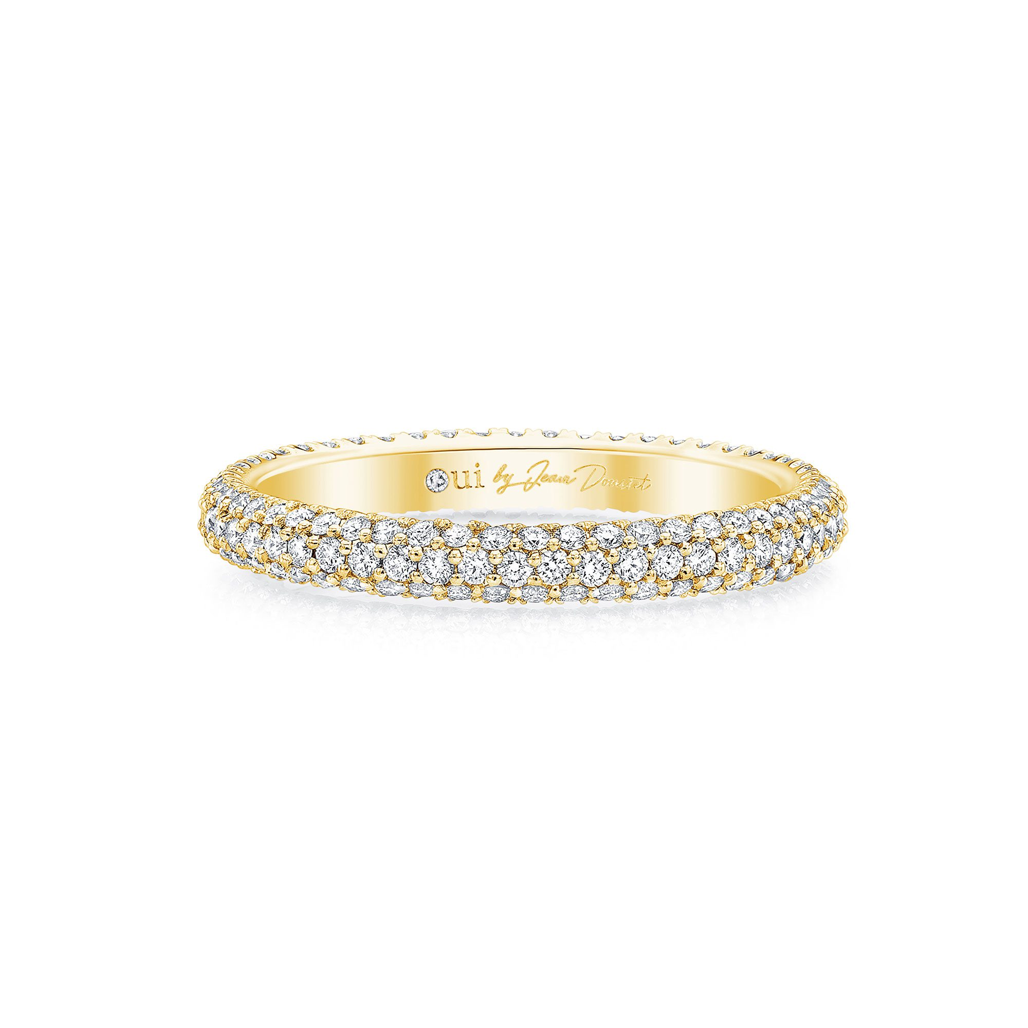 Jacqueline Eternity Band 18k Yellow Gold Front View by Oui by Jean Dousset