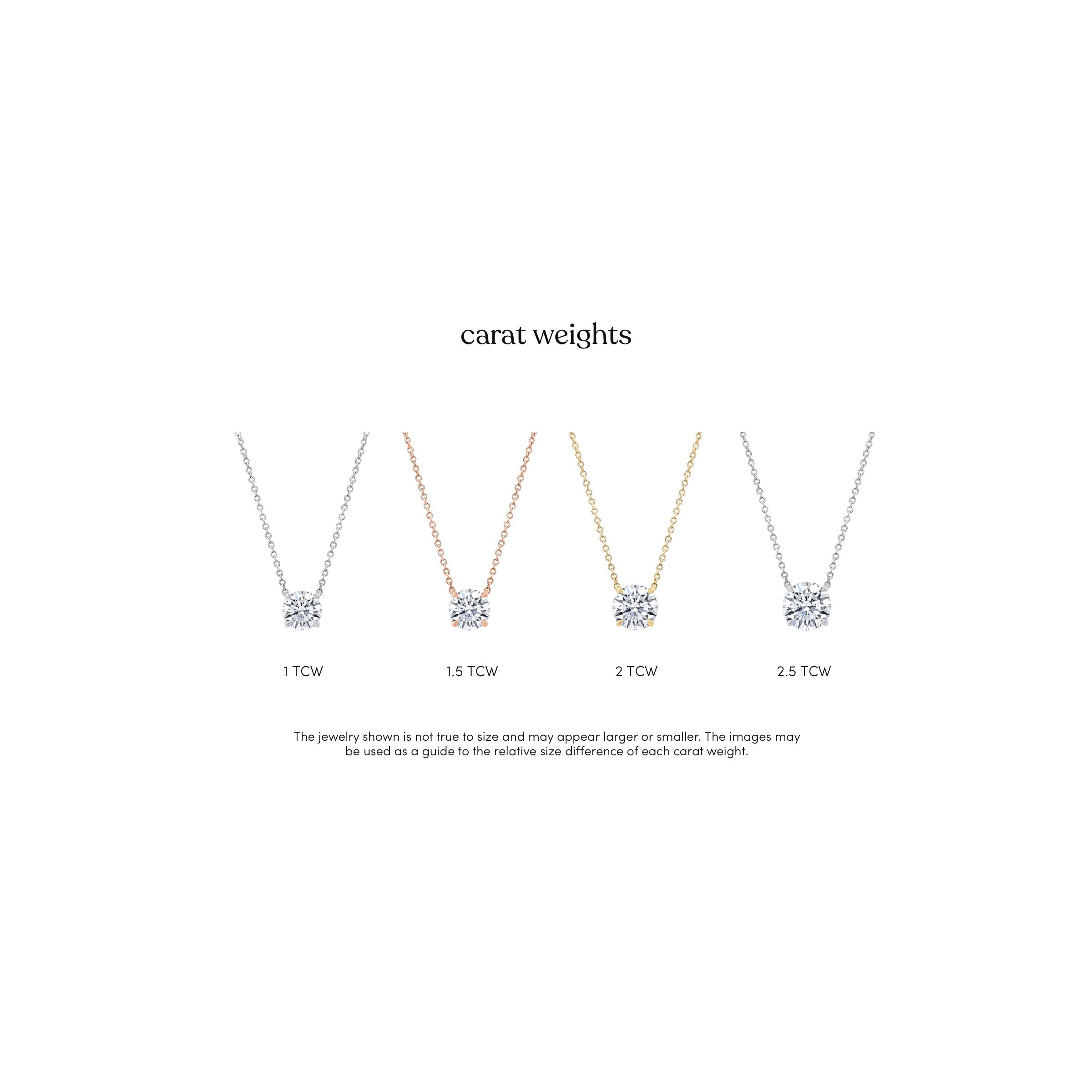 Lab Grown Diamond Necklaces Carat Weight Graph of Pendants from Oui by Jean Dousset