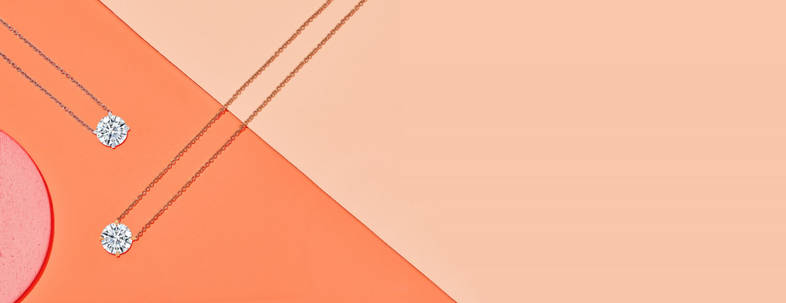 Two Lab Grown Diamond Necklaces Product Layout